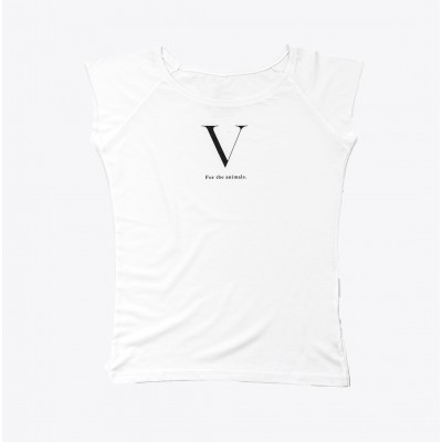 """""""V for the animals"""" t-shirt"""